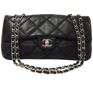 c74a953d029d CHANEL Ultra Stitch Classic Leather Black Bag.  2500  3750. Size  12.25 x  ...